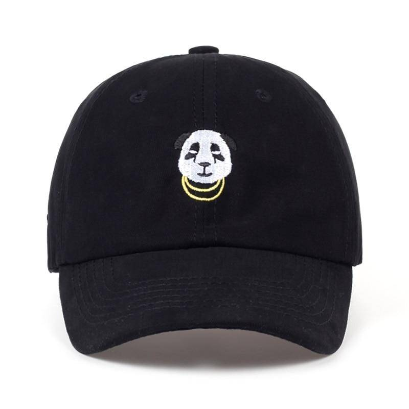 casquette panda noire motifs