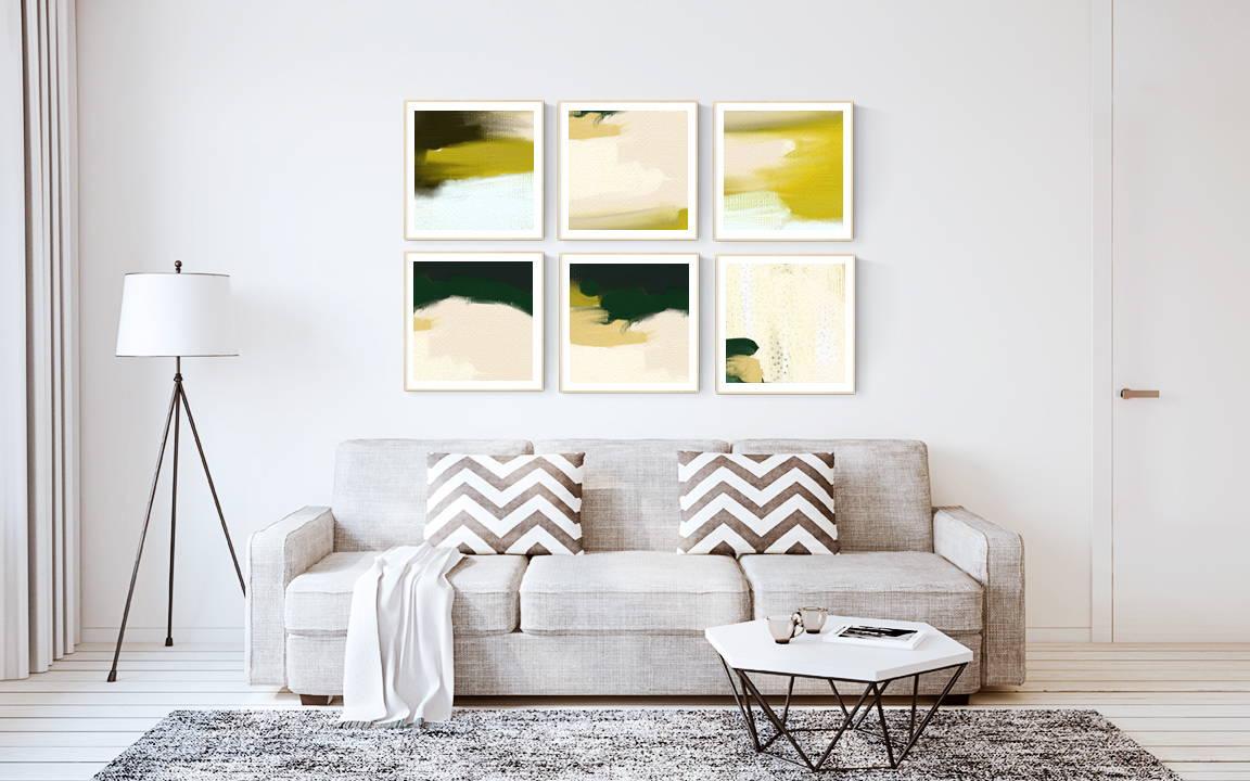 4 Gallery Wall Layout Ideas via Parima Studio #art