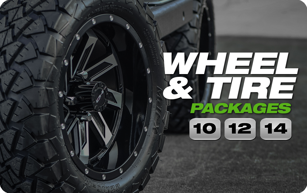Shop for HD Golf Cart Wheel and Tire Packages Online Here