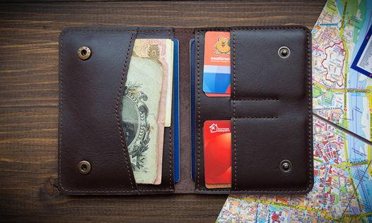 Документница для двух паспортов, для денег, автодокументов, 100% ручная работа