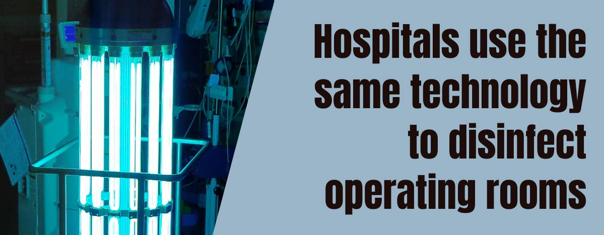 EdenPURE® UV-C Guardian Light Hospital Technology
