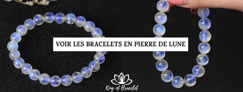 Bracelet en Pierre de Lune Bleue - King of Bracelet