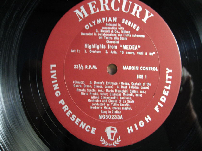 Maria Meneghini - Callas Higlights from Media By Luigi Cherubini - 1960s Mercury Records MG50233