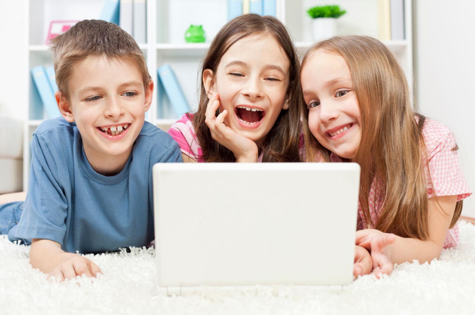 Kids watching shows