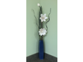 Stunning Blue Vase with Flowers
