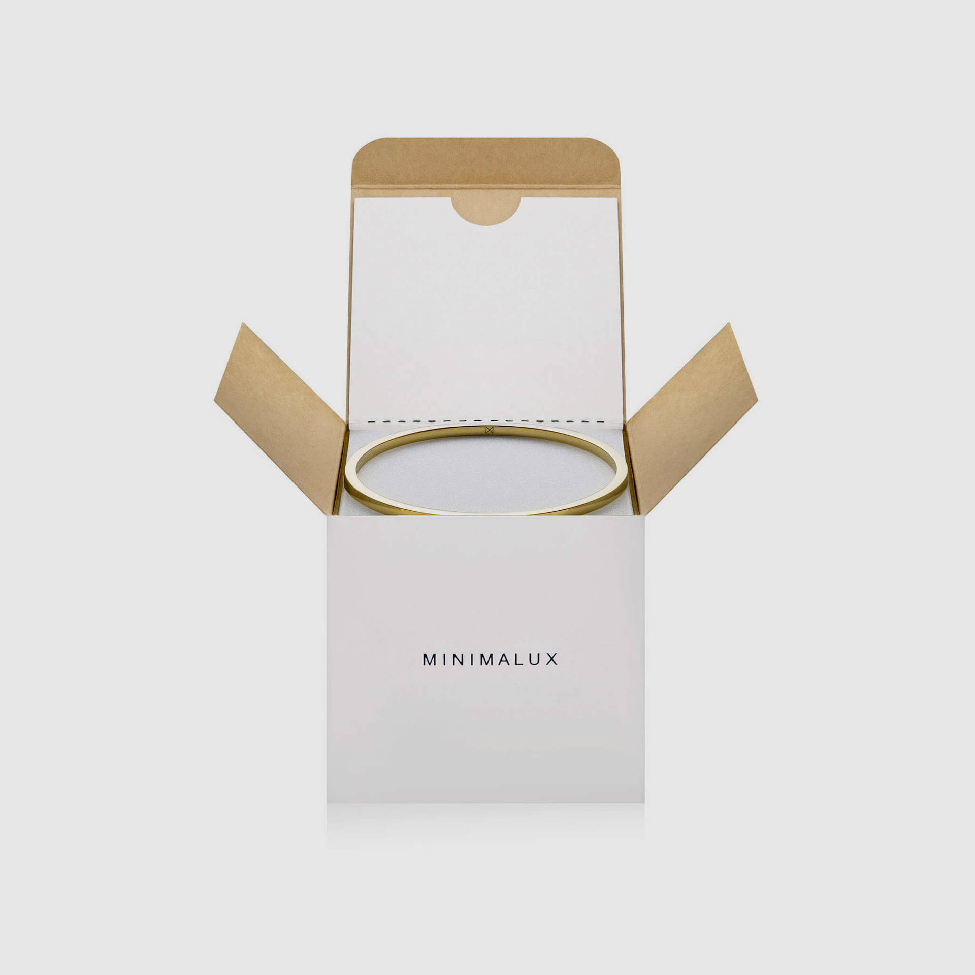 Round Bangle in Brass  packaging