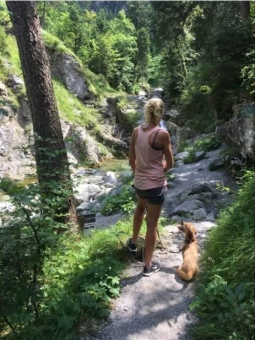 Wandern mit Hund Kuhfluchtwasserfälle