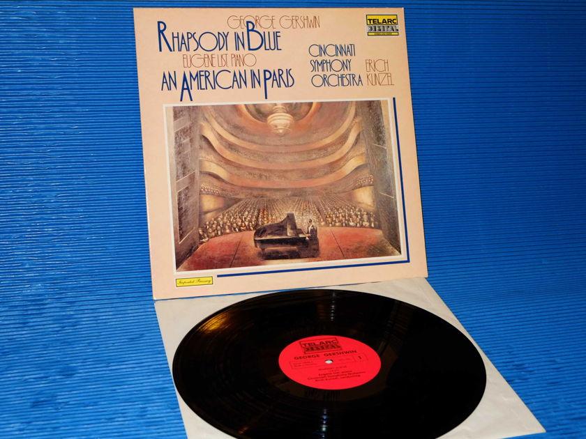 """GERSHWIN / Kunzel / List  - """"Rhapsody In Blue / An American In Paris"""" -  Telarc 1981 German Import"""