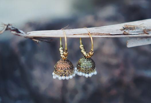 Серьги-джумки из латуни