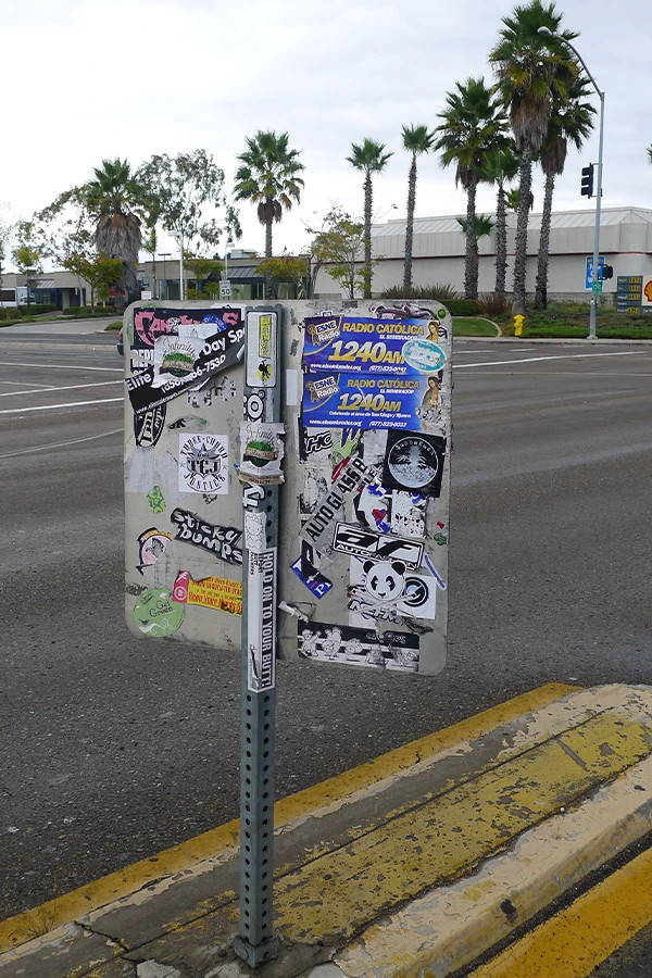 remove stickers from signs, utility boxes and smooth surfaces