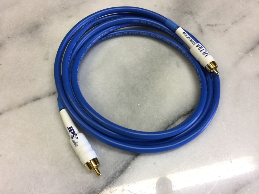 JPS Labs Ultraconductor  75 ohm RCA Digital Cable - NEW - (2) meters