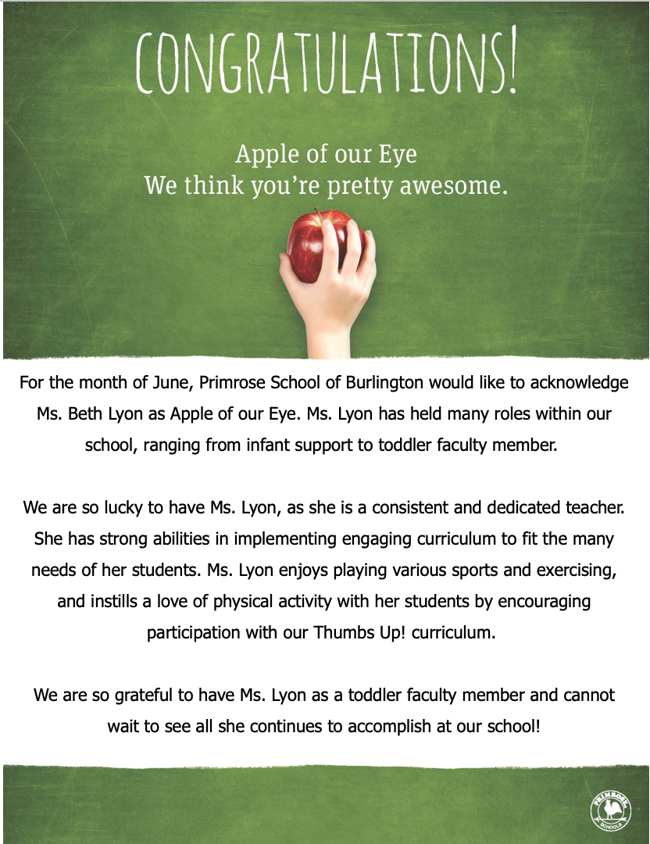 June Apple of our Eye