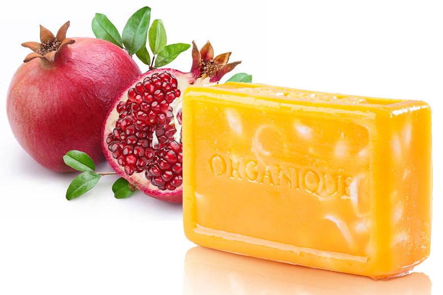 Glycerin Handmade Soap Nasturtium and Pomegranate natural from Organique cosmetics