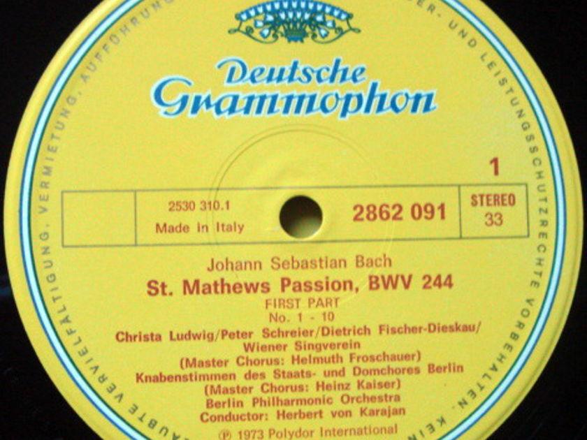 DG / KARAJAN-BPO, - Bach St. Matthew Passion, MINT, 4LP Box Set!