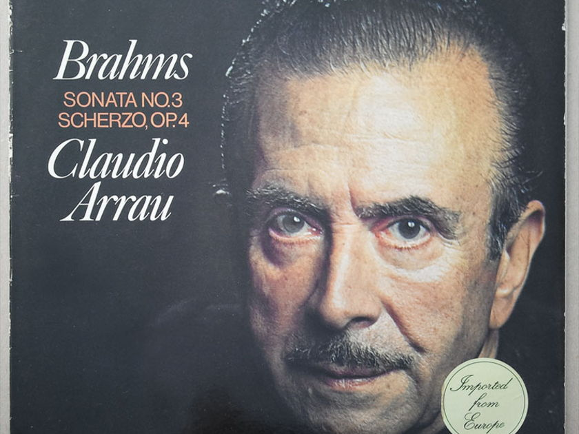 Philips/Arrau/Brahms - Sonata No.3, Scherzo Op.4 / EX