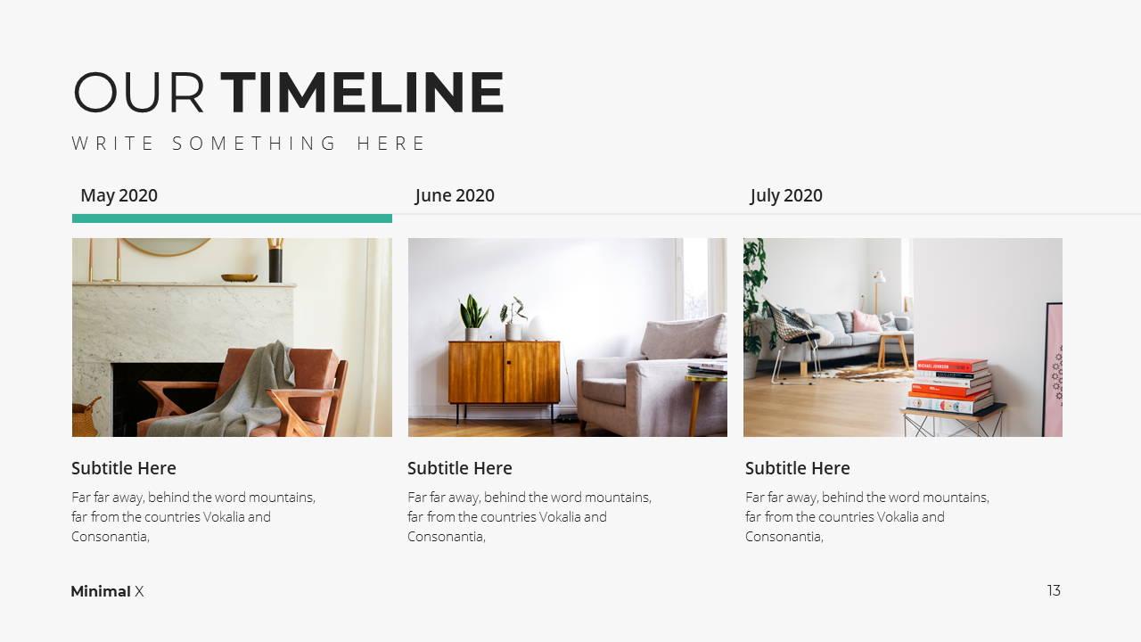Minimal X  Company Profile Presentation Template Timeline