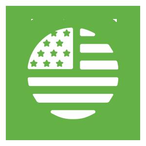 USA grown and processed hemp icon