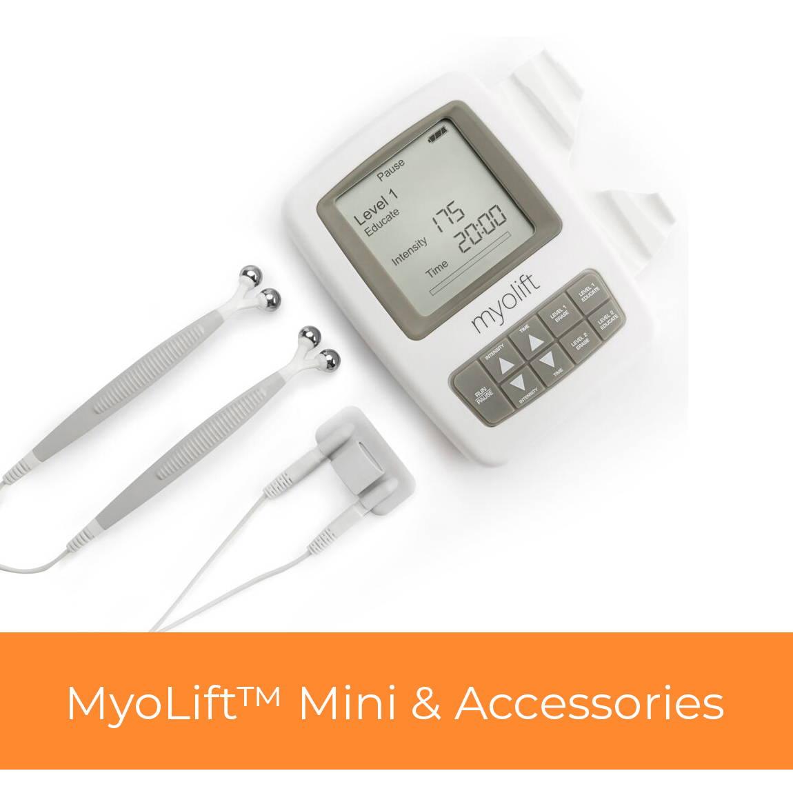 myolift mini microcurrent machine and accessories