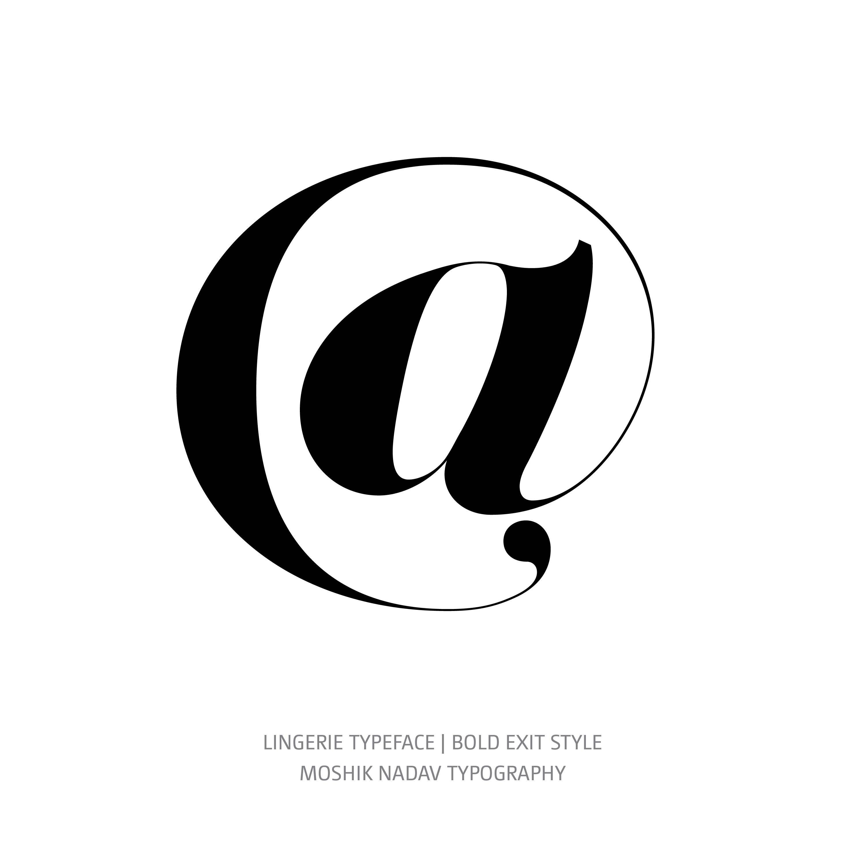 Lingerie Typeface Bold Exit @