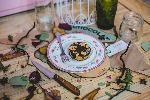 Капкейки с инжиром и арахисовым кремом