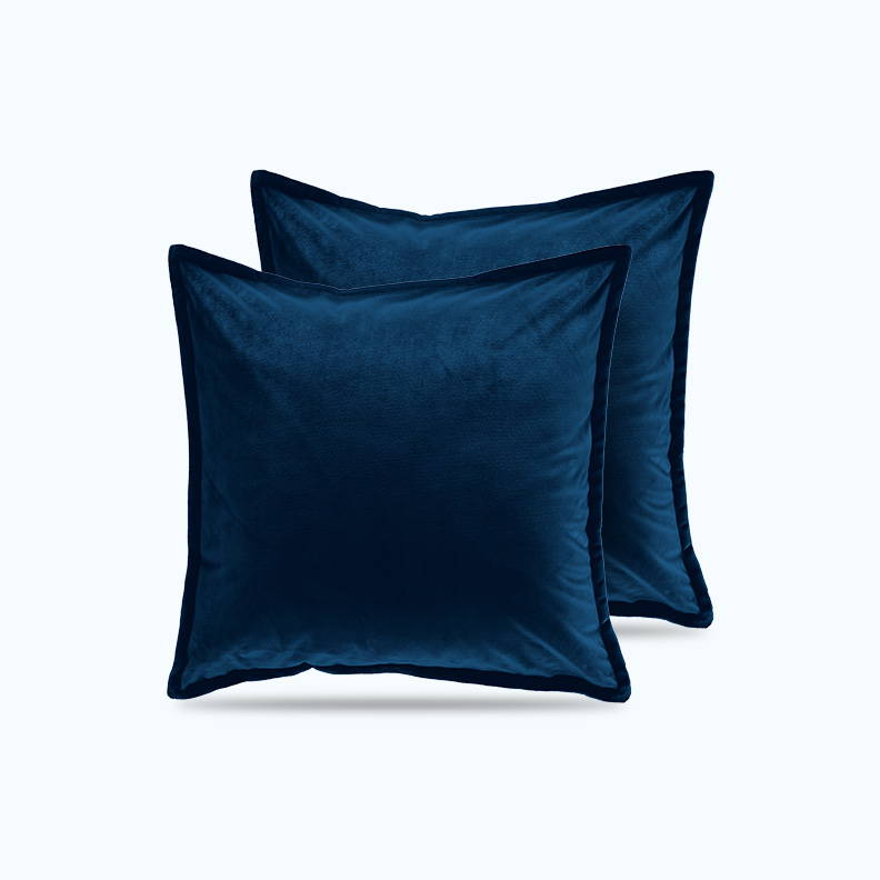 sleep zone bedding website store products collections satin pillowcase velvet throw pillow covers sapphire blue