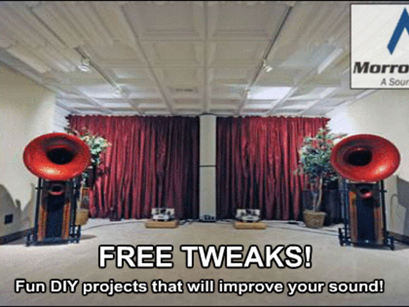 FREE TWEAKS Morrow Audio Want to improve your sound?
