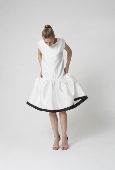 Платье ассиметричное белое