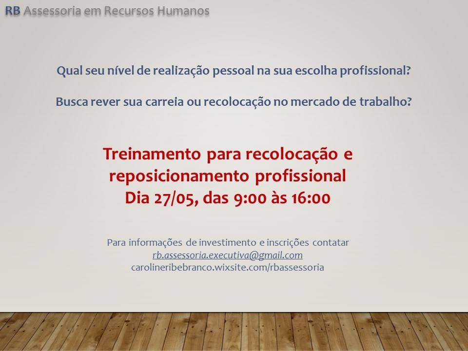 TREINAMENTO PARA RECOLOCAÇÃO E REPOSICIONAMENTO PROFISSIONAL
