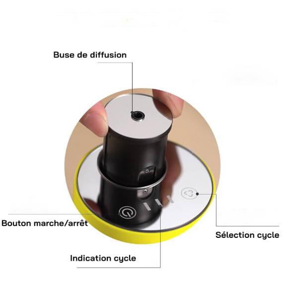 Diffuseur d'huile essentielle nébuliseur rechargeable et portable design