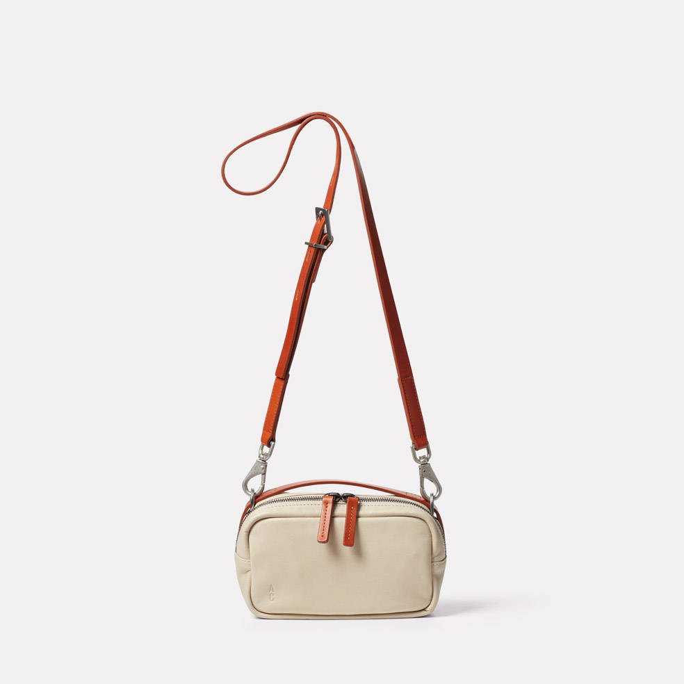 Limited Edition Leila Small Leather Crossbody Bag in Sand