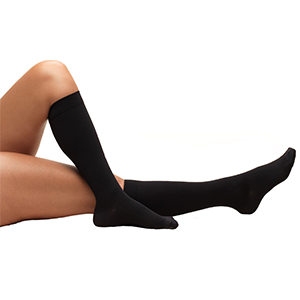 Knee High Closed Toe Anti-Embolism Stockings in Black