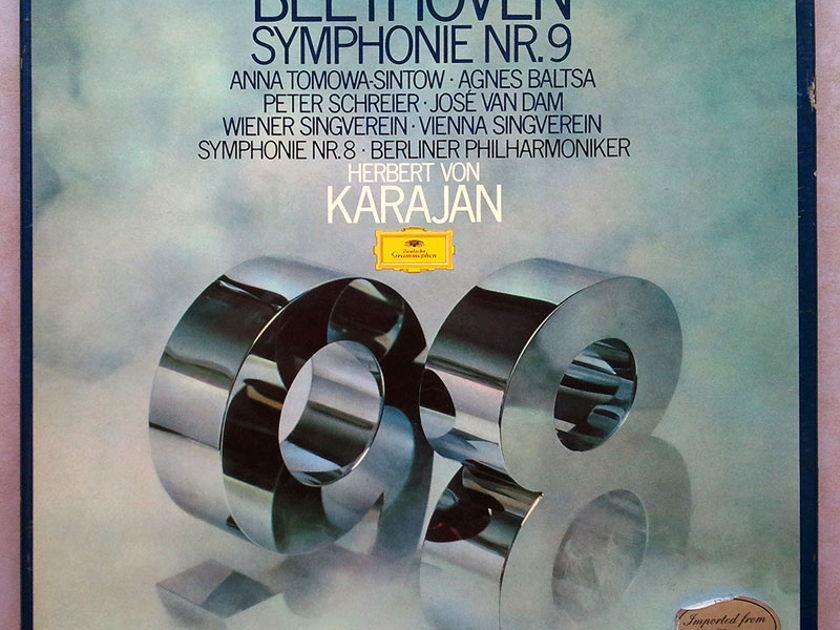 DG/Karajan/Beethoven - Symphonies Nos. 8 & 9 / 2-LP / NM