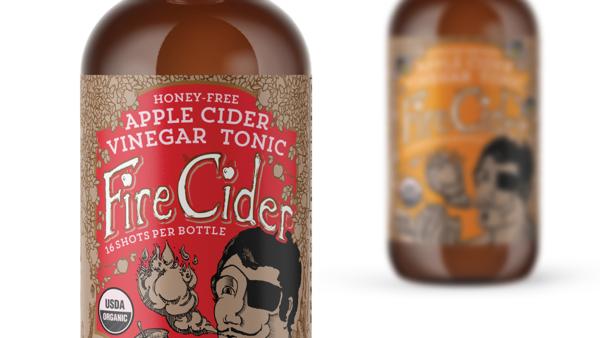 Fire Cider Apple Cider Vinegar Tonics Packaging Design