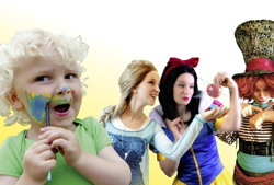 kinderanimateurin für kinderpartys walkakts kinderprogramm