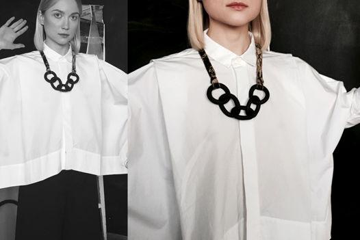 """Украшение Крупная цепь черного цвета """"Chain Necklace"""""""