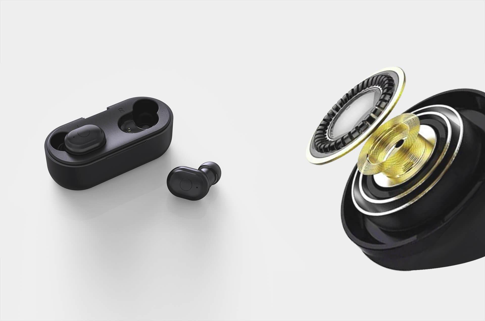 Ausdom TW01 TWS Bluetooth 5.0 Wireless Earbuds with CVC8.0 Noise Cancelling