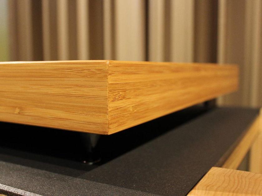 Audiophile Vibration Control Bamboo Edge Series Isolation Platform Charcoal Black