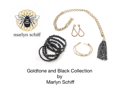 Marlyn Schiff Gold tone Black tassel Jewelry Set