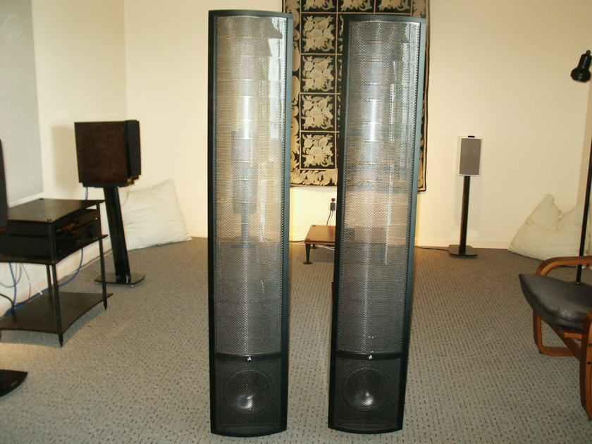 Martin Logan Theos in dark cherry demo pair, with warranty