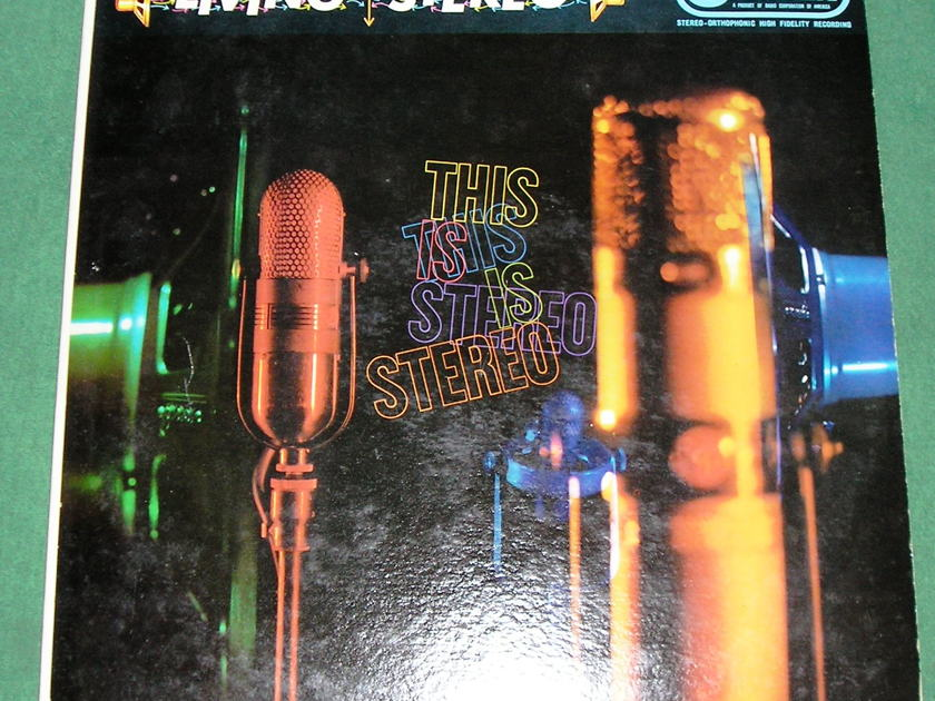 """RALPH CAMARGO & VARIOUS  """"THIS IS STEREO """" - RARE 1959 RCA CAMDEN RECORDS / LIVING STEREO  ** NM 9/10 **"""