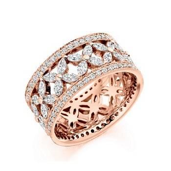Diamond eternity rings from Pobjoy Diamonds in Surrey