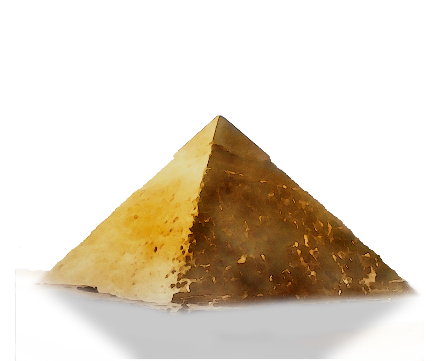 golden pyramid symbolising wealth
