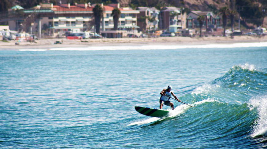 Doheney State Beach Park in Dana Point California surfing on Pau Hana carve