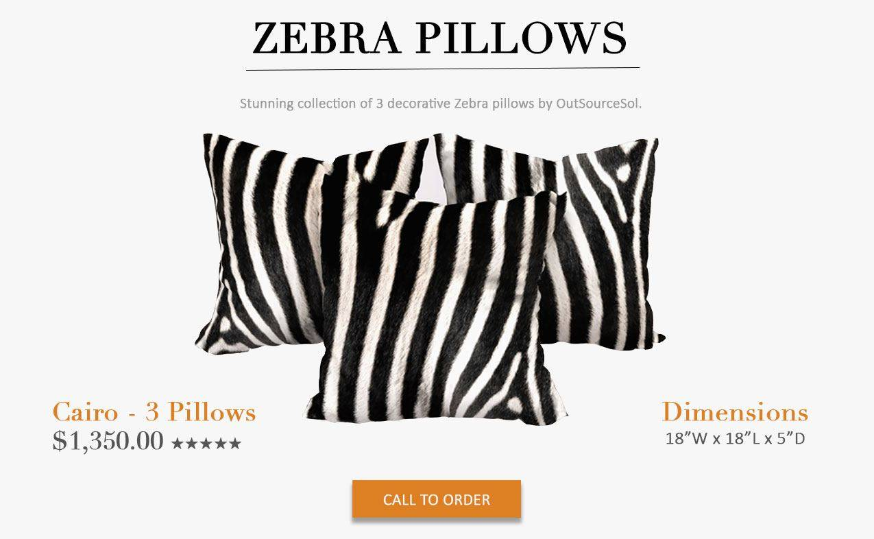 Zebra skin pillows