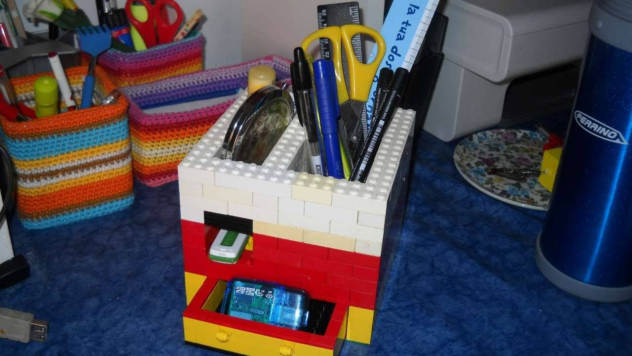 LEGO pen holder