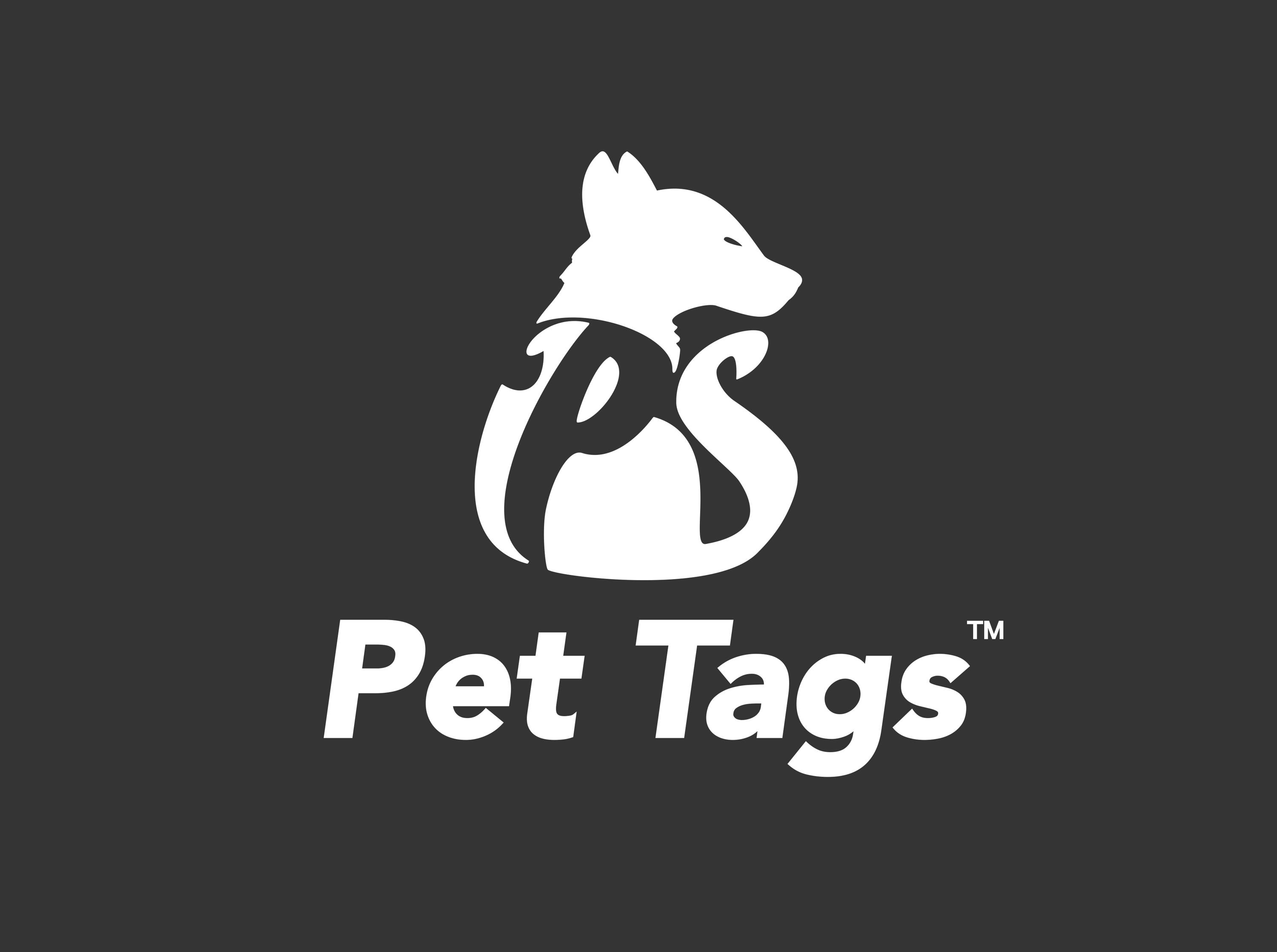 Portable dog poo holder logo