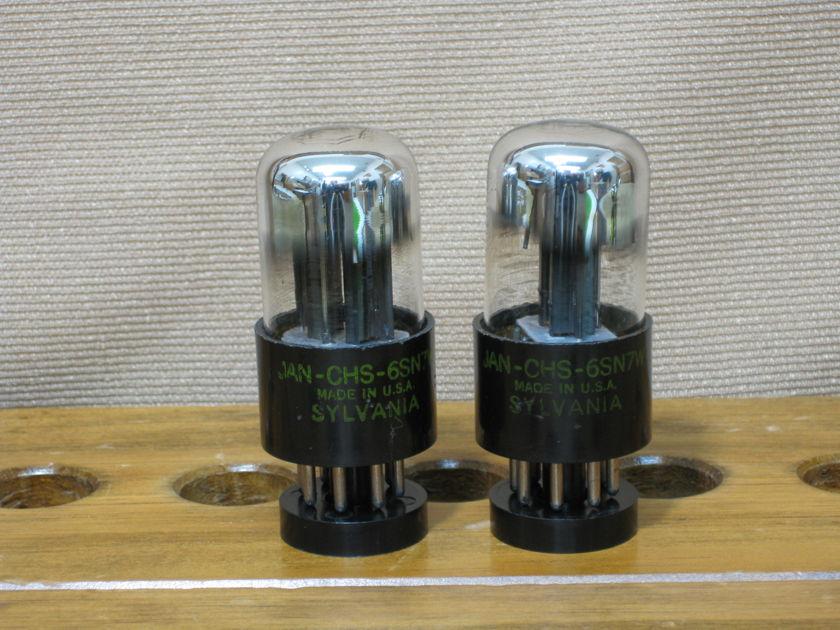 Sylvania JAN-CHS-6SN7W Matching pair