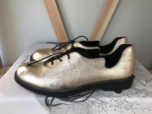 Туфли Волна из натуральной кожи в золотом цвете