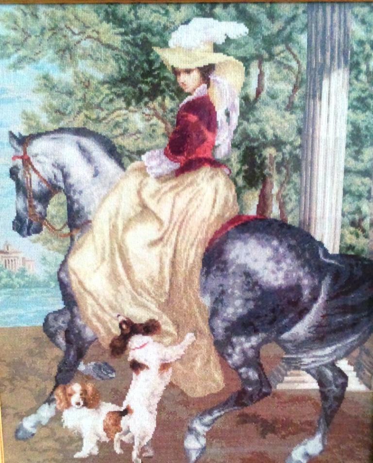 Дама на коне
