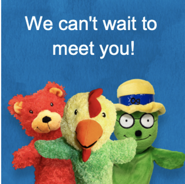 Primrose puppets can't wait to meet you